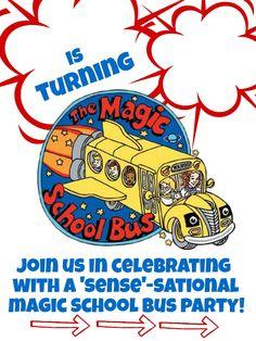 DIY Magic School Bus Birthday Party Invites and Free Printables!