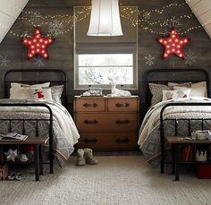 Christmas twin room for bedtime stories. #bedroom #children #interior