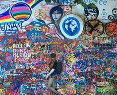 """Imagine all of us living in peace, it's too beautiful to just be a dream""  💜✌️  Photo by Andrés Nuñez  John Lennon Wall Praɦa, Czech Republic 🇨🇿  #travel #travelphotography #photographer #peace #movement #lennon #lennonwall #prague #praɦa #czech #czechrepublic  #city #europe #summer #summeradventures #wanderlust #endlesstravel #adventure #journey #fjällräven #photography #model #publishedmodel #travelingmodel #international #entrepreneur #redhead #internationalmodel #exploreeurope…"