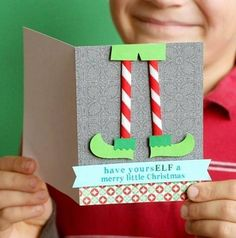 Christmas card diy easy for kids holiday crafts 48