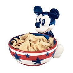 Mickey Mouse Chip Bowl - Fourth of July Mickey Mouse House, Mickey Mouse Kitchen, Mickey Mouse Clubhouse, Mickey Minnie Mouse, Disney Kitchen Decor, Disney Home Decor, Cozinha Do Mickey Mouse, Disney Fun, Disney Ideas