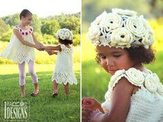 CROCHET PATTERN Summer Dreams Dress Top and Beret Crochet Pattern in PDF