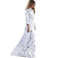 Kwok Womens Summer Boho Evening Party Long Beach Dress S * More info could be found at the image url.