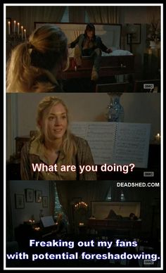 Noooooo! Daryl Dixon in a casket. Norman Reedus. Emily Kinney. Beth Greene