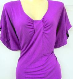 Misses Small - PURPLE - New York & Company  Pull-on Top  Bell Sleeves  #NewYorkCompany #Pullon #Casual