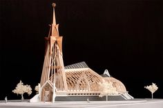 Reformed church project page, building & design pages Religious Architecture, Building Design, Cathedral, Island, Projects, House, Kit, Model, Deco