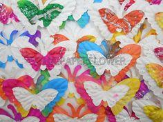 50 Paper Butterflies Die Cut Scrapbook Card by thaipaperflower, $5.75