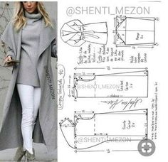 Cape Coat: Build Patterns for Sewing Coat Patterns, Dress Sewing Patterns, Sewing Patterns Free, Clothing Patterns, Skirt Patterns, Blouse Patterns, Make Your Own Clothes, Diy Clothes, Barbie Clothes