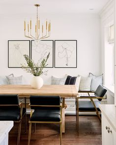 Home Interior Cocina modern dining room design.Home Interior Cocina modern dining room design Dining Room Design, Dining Room Art, Dining Room Decorating, Dining Room In Kitchen, Dinning Room Bench, Built In Dining Room Seating, Dining Bench With Back, Dining Room Banquette, Small Dining Area