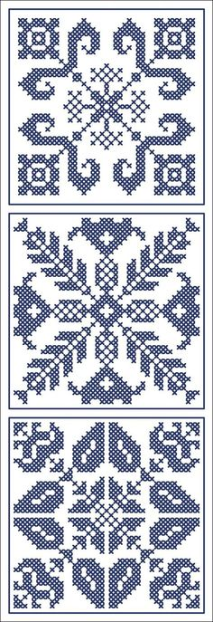 More square tiles - Chart for cross stitch or filet crochet. Biscornu Cross Stitch, Cross Stitch Borders, Cross Stitch Charts, Cross Stitch Designs, Cross Stitching, Cross Stitch Embroidery, Cross Stitch Patterns, Crochet Cross, Crochet Chart