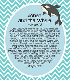 JONAH AND THE WHALE STORY HOUR - TeachersPayTeachers.com