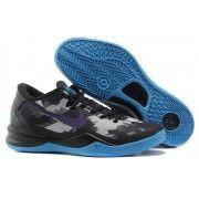 Nike Zoom Kobe VIII Mens Basketball Shoes Black Purple Grey Royal $89.90 http://www.blackgoto.com/nike+zoom/