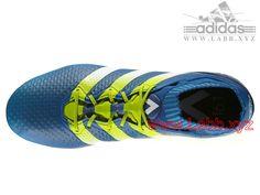 best sneakers 02b61 98db9 Adidas Homme Football Chaussure ACE 16.1 Primeknit terrain souple Shock Blue  AQ5152