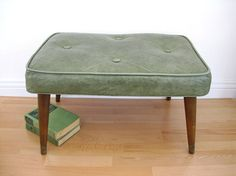 Mid Century Footstool Vinyl Rectangle Foot by BrooklynStVintage, $35.00 (I'd buy it if I didn't think my kids would destroy it)