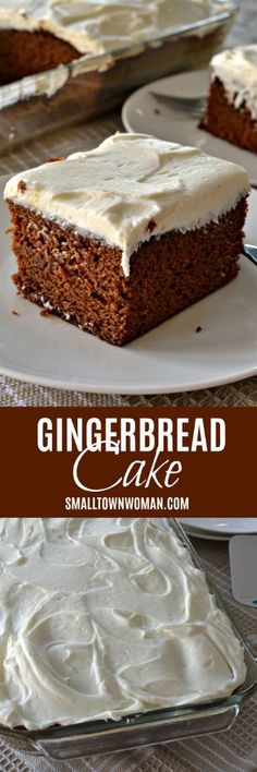 This Gingerbread Cake with Cream Cheese Frosting is the perfect holiday dessert. It will remind you the time-honored gingerbread cake that grandma made. Holiday Cakes, Holiday Baking, Christmas Desserts, Christmas Baking, Easy Cake Recipes, Cupcake Recipes, Baking Recipes, Dessert Recipes, Köstliche Desserts