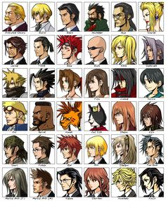 Before Crisis: #FinalFantasy VII Art & Pictures Character Faces