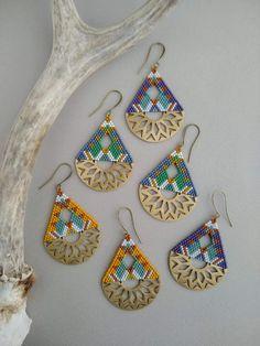 Gold Arc Ear Jackets- ear jacket earrings/ minimal ear jackets/ gold ear jacket/ ear cuff/ dainty ear jacket/ gifts for her/ birthday gift - Fine Jewelry Ideas Seed Bead Jewelry, Seed Bead Earrings, Etsy Earrings, Beaded Jewelry, Hoop Earrings, Seed Beads, Geometric Patterns, Beaded Earrings Patterns, Beading Patterns