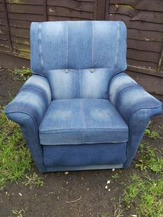 Upholstered using jeans