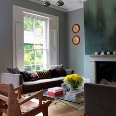 This sitting room-cum-playroom in Chelsea is tailored to the children of the house. 'The key with toys is to design somewhere for them to go,' says the designer Bunny Turner of Turner Pocock. The huge ottoman acts as a giant toy box and kids seating area. 'They won't sit on the sofa to watch television any more,' says the owner. 'They use the cushions as pillows and lie on the ottoman as if it's a bed.'