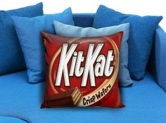 Kit Kat Pillow Case  These soft pillowcase made of 50% cotton, 50% polyester.  It would be perfect to decorate your home by using our super soft pillow cases on sofa, chair, bench or bed.  Customizable pillow case is both comfortable and durable, improving the quality of your sleep with these comfortable pillow case, take it home now!  Custom Zippered Pillow Cases available in 7 different size (16″x16″, 18″x18″, 20″x20″, 16″x24″, 20″x26″, 20″x30″, 20″x36″)