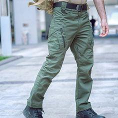 Men's Waterproof Tactical Pants Cargo Pants Men, Khaki Pants, Tactical Pants, Black Khakis, Trousers, Parachute Pants, Pure Products, Running, Zipper
