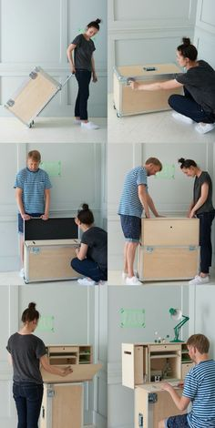 Genius! Not enough room for a desk? Check out the Portable Research Lab created by British design brand Baines&Fricker.