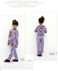 Aliexpress.com : Buy Free Shipping Promotion Velvet Clothing Suit for Girls Leisure Leopard Cat Design Hooded Set Casual Wear K0196 from Reliable Velvet Clothing Suit for Girls suppliers on SICIBAY - Kids' Clothing:Selling for Donating