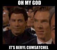 Benedict Cumberbatch's name... Travoltafied.