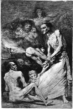 """Blow, Plate 69 of """"Los Caprichos,"""" 1799 Giclee Print by Francisco de Goya Spanish Painters, Spanish Artists, Arte Horror, Horror Art, Goya Paintings, Francisco Jose, Occult Art, Witch Art, Historical Art"""