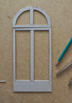 Maison française 1/12: portes et fenêtres