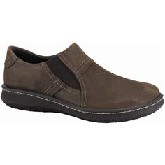 Naot Men's Lava, Style #: 88024-E08 in Oily Brown Nubuck | Adopt a laid back attitude with the Naot Lava loafer. This men's casual slip on shoe is all set for the weekend, boasting a durable oiled nubuck upper and elastic gores for easy on/off. Removable suede covered, shock absorbing cork and natural latex cushioned footbed manages moisture and keeps the feet dry. Hallux support holds the big toe.  | Naot shoes are available at www.TheShoeMart.com #TheShoeMart
