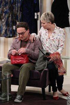 Sheldon and Leonard go dress shopping with Penny and Amy, on THE BIG BANG THEORY, Thursday, Jan. 8 (8:00-8:30 PM, ET/PT), on the CBS Television Network. Pictured left to right: Johnny Galecki and Kaley Cuoco-Sweeting Photo: Sonja Flemming/CBS ©2014 CBS Broadcasting, Inc. All Rights Reserved