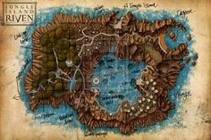 Riven - Jungle Island Map by *SandmanNet on deviantART