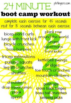 24 Minute Boot Camp Workout