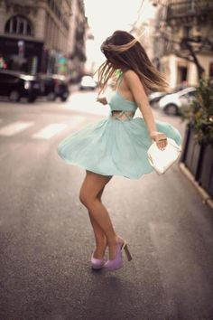 sweet pastel dress and shoes