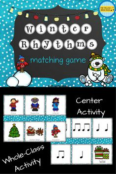 Matching game for centers or whole-group activity.