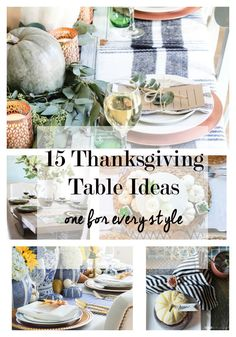 15 fall and thanksgiving tablescape decor ideas