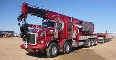★  2012 Kenworth custom T800 twin steer tri drive crane and pull trailer