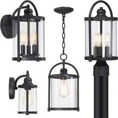 John Timberland Avani Outdoor Collection Lantern Post, Wall Lantern, Bronze Patina, Bronze Finish, Glass Cages, Transitional Lighting, Vintage Iron, Hanging Lanterns, Candelabra