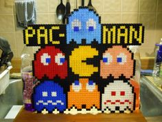 Pac-Man made with pixelblocks.