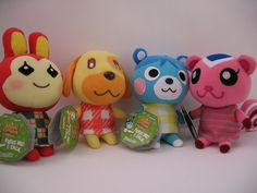 Animal Crossing plushes. Guess what? MY BROTHER AND I HAVE THESE :D -Lilacsandlace1 btw they TALK well play songs or something