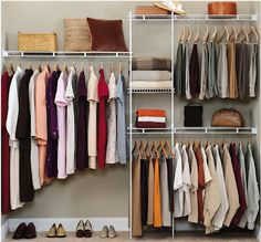 Closet Design Ideas and Walk in Closet Designs: A Cheap Closet System
