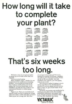 1970's Victaulic advertisements.