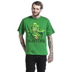 "Classica T-Shirt uomo verde ""Slimer"" di #Ghostbusters."