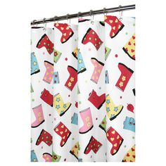 Found it at Wayfair - Favorite Boots Shower Curtainhttp://www.wayfair.com/daily-sales/p/Kid-Friendly-Bathroom-Revamp-Favorite-Boots-Shower-Curtain~WQV1219~E14250.html?refid=SBP.rBAZEVQxkCcURVp1G0ptAp-3waFMm0xJjNgLZa7-rPg