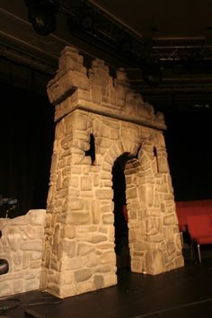Stage set construction - How to make prop castles from styro foam   The art of faking it - Stage design, themed rooms, props and more