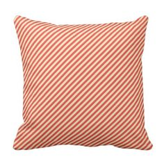 Light Coral Color Stripes Design modern decor Throw Pillow - modern gifts cyo gift ideas personalize