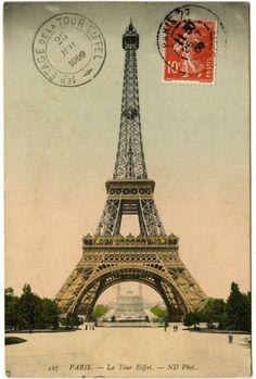 Vintage Image – Eiffel Tower Photo