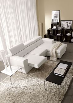proxima - divano angolare a 3 posti con penisola, in tessuto ... - Pelle Dangolo Divano Minimalista