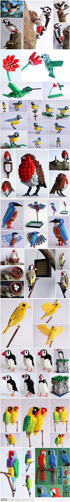 LEGO Birds Awesome LEGO Birds - finally something that makes me respect Legos again.Awesome LEGO Birds - finally something that makes me respect Legos again. Lego Duplo, Lego Design, Van Lego, Lego Challenge, Lego Club, Lego Craft, Lego For Kids, Lego Storage, Lego Worlds